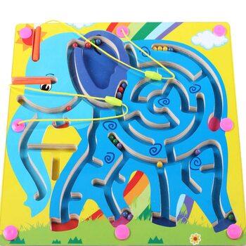 Магнитный лабиринт-игра «Слоненок»