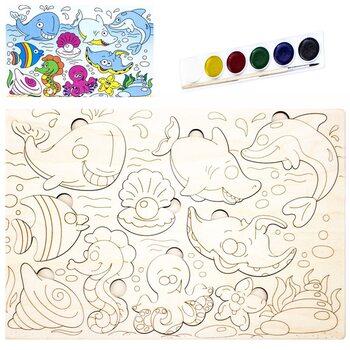 Раскраска-вкладыш «Морские жители»