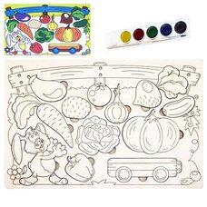 Раскраска-вкладыш «Овощи»