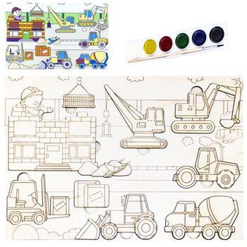 Раскраска-вкладыш «Строительная техника»