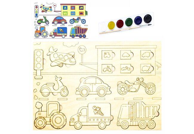 Раскраска-вкладыш «Виды транспорта»