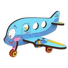 Сборная 3D-модель «Аэроплан», 15 дет. (раскраска)