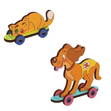 Сборная 3D-модель «Кошка и собака», 15 дет. (раскраска)