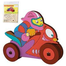 Сборная 3D-модель «Мотоциклист», 8 дет. (раскраска)