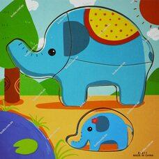 Собери картинку «Слон»