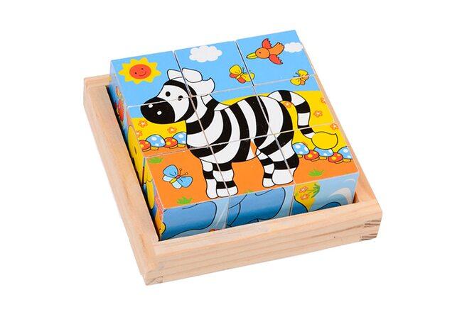 Кубики «Экзотические животные», 3х3