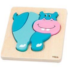 Объемный пазл «Бегемотик» от Viga Toys