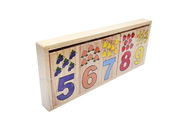 Деревянный набор «Цифры-фрукты»