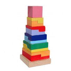 Пирамидка «Радуга» квадратная.