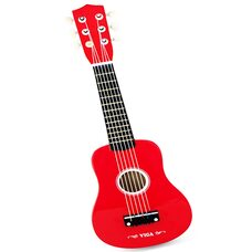 Деревянная гитара (красная)