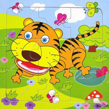 Пазл «Тигр», 9 дет.