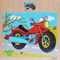 Пазл «Мотоцикл», 12 дет.