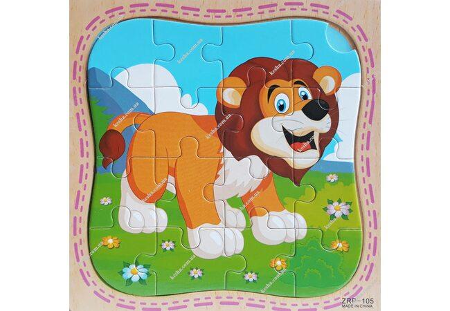 Пазл «Лев», 16 дет.