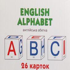 Набор больших карточек «Английский алфавит», 26 шт.
