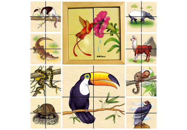 Набор пазлов «Животные Южной Америки»