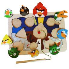 «Angry Birds», мозаика + рыбалка, 23 дет.