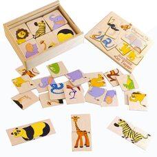 Пазловая игра «Половинки» (Экзотические животные)