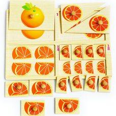 Вкладыши «Дроби - делим апельсин»