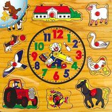 Часы-вкладыши «Домашние животные»