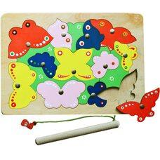 «Бабочки», мозаика + рыбалка, 18 дет.