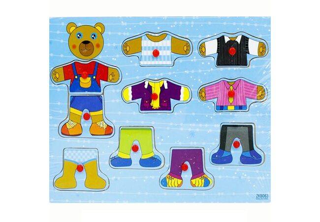 Игра «Поменяй одежду Медвежонку», 5 комплектов