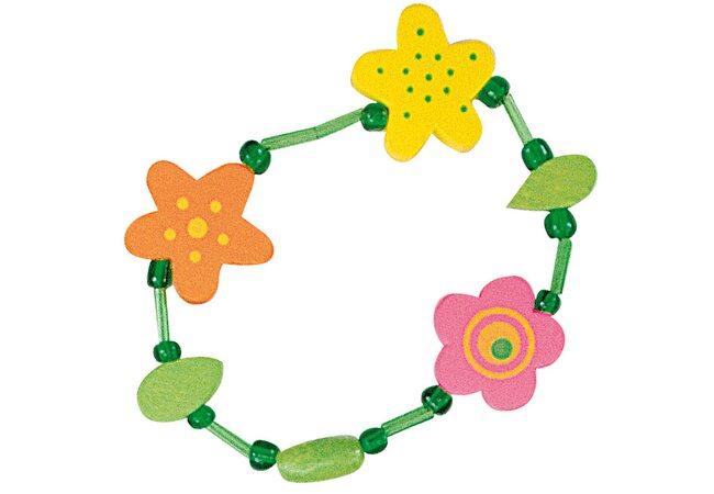 Деревянный браслет «Цветы»