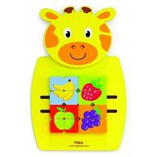 Настенная игра «Жирафчик с фруктами» (лабиринт-пазл)