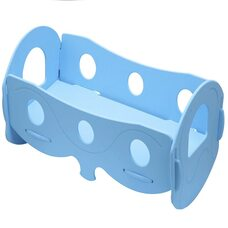 Кроватка для кукол (голубая)