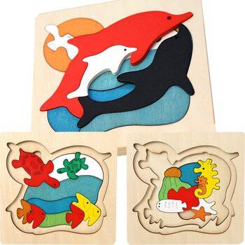 Мозаика «Подводная братва», трехслойная, 29 дет