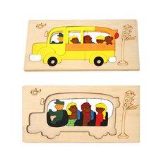 Мозаика «Школьный автобус», двухслойная, 40 дет
