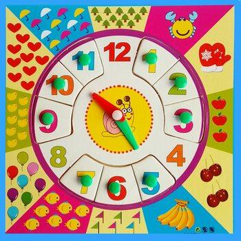 Часы-вкладыши «Цифры»