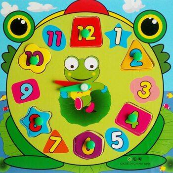 Часы-вкладыши «Лягушонок»