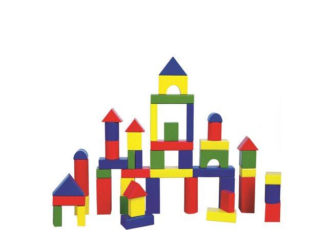 Набор разноцветных блоков, 50 дет.