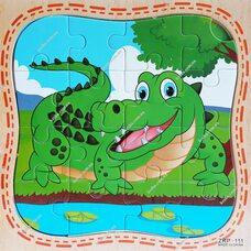 Пазл «Крокодил», 16 дет.