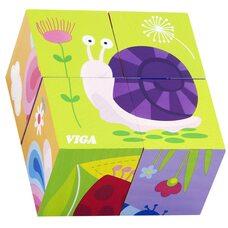 Кубики «Насекомые», 4 шт