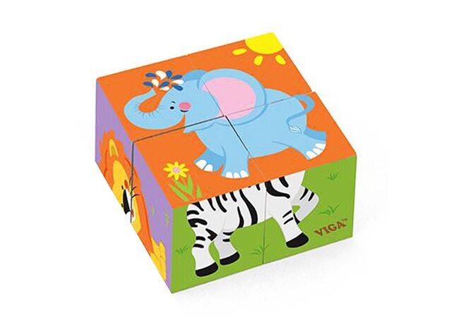 Кубики «Животные №2», 4 шт.