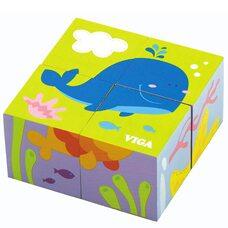 Кубики «Подводный мир», 4 шт.
