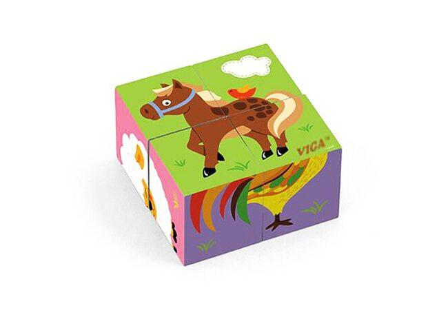 Кубики «Животные №1», 4 шт.