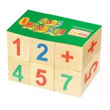 Кубики «Цифры-знаки», 6 шт.
