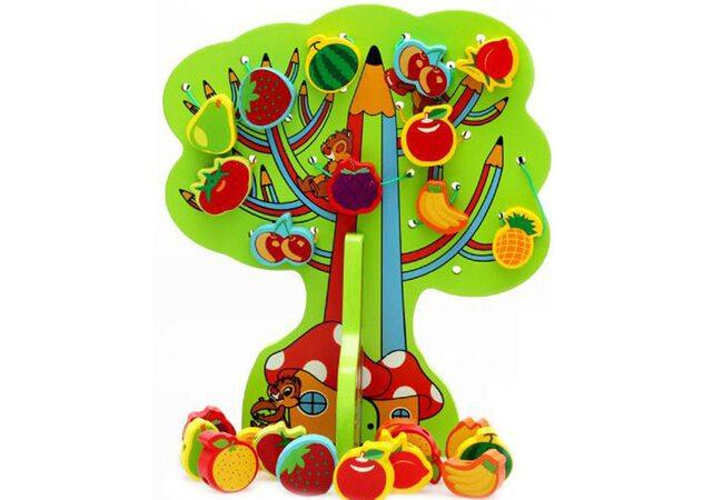 Шнуровка дерево «Чип и Дейл» с фруктами