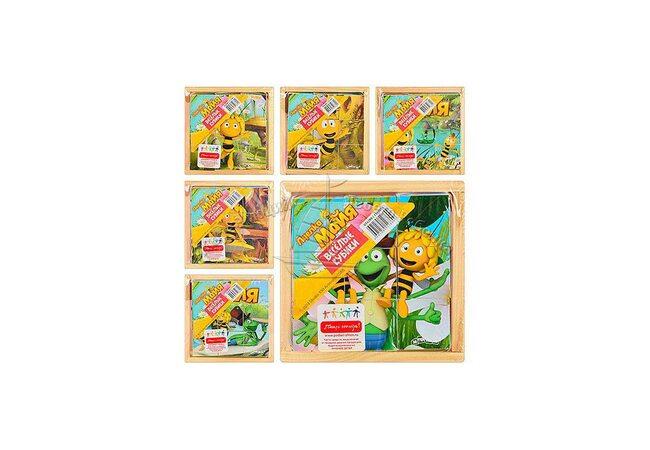 Кубики «Детские мультфильмы-Пчелка Майя» 9 шт.