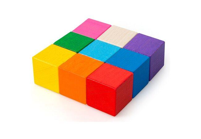 Цветные кубики, 9 шт.