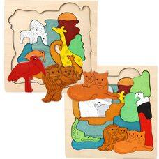 Мозаика «Дикие животные», двухслойная, 33 дет.