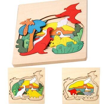 Трехслойная мозаика «Динозавры», 29 дет