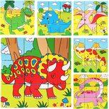 Кубики «Динозавры», 9 шт