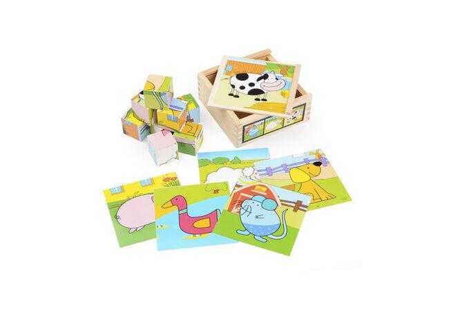 Набор кубиков «Домашние животные» (в пенале)
