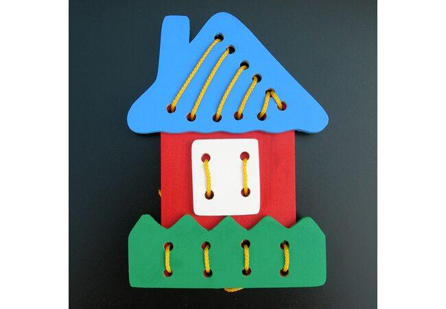 Шнуровка «Сложи домик»