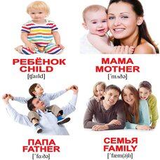 Мини-карточки «Семья/Family», 40