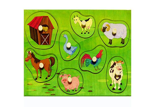 Вкладыши с животными «Ферма»