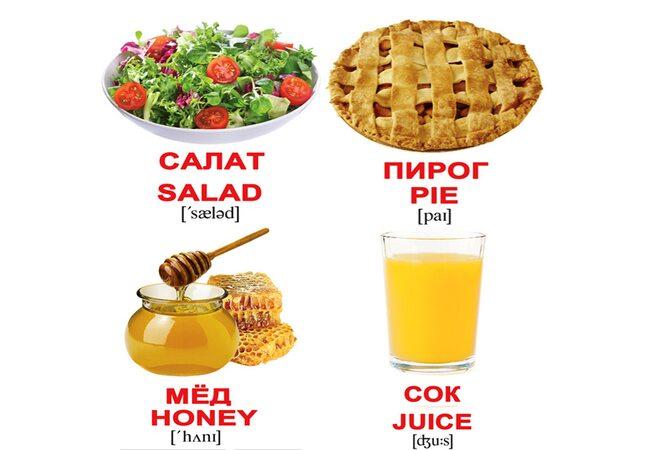 Мини-карточки «Еда/Food», 80